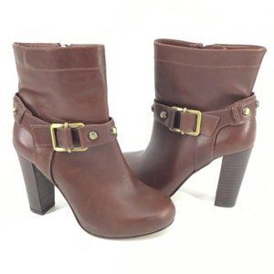 Arturo Chiang Designer leather brown ankle boots